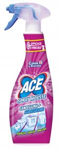 ACE Spray Mousse Candeggina Sgrassatore Prodotto Per il Bucato 650 ml
