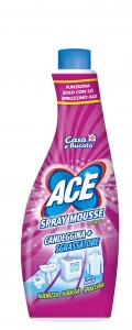 ACE Spray Mousse Ricarica Candeggina Sgrassatore Prodotto Per il Bucato 650 ml