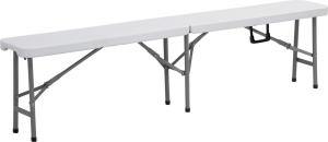 Archimede Folding Bench Cm 183 X 25 X 43 Polyethylene And Painted Steel