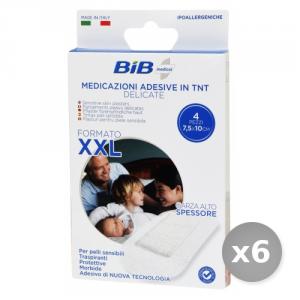 Set 6 BIB Cerotti 10x7,5cm.xxl tnt pelli delicate 4 pezzi medicamento cutaneo