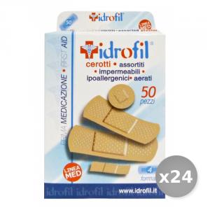 Set 24 IDROFIL Cerotti Assortito x 50 Pezzi Cerotti e Cura del Corpo
