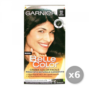Set 6 BELLE COLOR 80 Nero Naturale Prodotti Per capelli