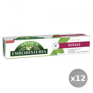 Set 12 ANTICA ERBORISTERIA Toothpaste 75 ml Total Sage And Mint Cure And Hygiene Dental