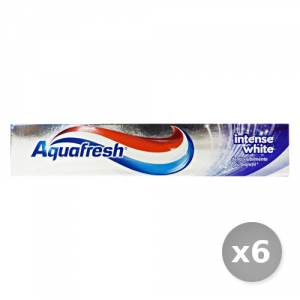 Set 6 AQUAFRESH Dentifricio Intense White 75 ml Prodotti per il Viso