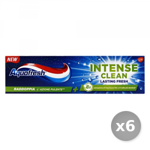 Set 6 AQUAFRESH Dentifricio Intense  Lasting Fresh 75 ml Prodotti per il Viso