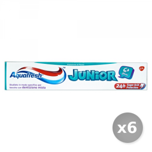 Set 6 AQUAFRESH Dentifricio Junior 6 + 75 ml Prodotti per il Viso