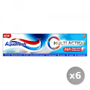 Set 6 AQUAFRESH Dentifricio Multi Action 75 ml - Dentifrici