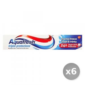 Set 6 AQUAFRESH Dentifricio Triparazione la Protezione 75 ml Prodotti per il Viso