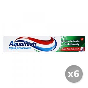 Set 6 AQUAFRESH Dentifricio Menta Delicata 75 ml Prodotti per il Viso