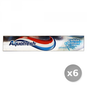 Set 6 AQUAFRESH Dentifricio White&brilliant 75 ml Prodotti per il Viso
