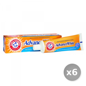 Set 6 ARM & HAMMER Dentifricio Advance White gel Freschezza 75 ml Prodotti per il Viso