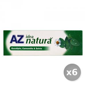 Set 6 AZ Dentifricio Idea Natura Eucalipto-camom.-salvia 75 ml Prodotti per il Viso