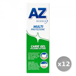 Set 12 AZ Dentifricio Base Protezione Carie Verde gel 75 ml Prodotti per il Viso