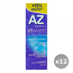 Set 12 AZ Dentifricio 3d White & Cool 75 ml Prodotti per il Viso