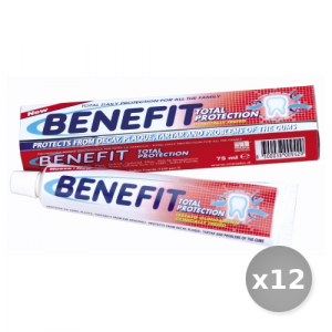 Set 12 BENEFIT Dentifricio 75 ml Total Protection Prodotti per il Viso