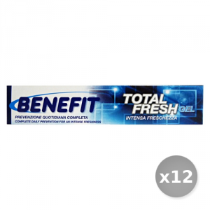 Set 12 BENEFIT Dentifricio 75 ml Total Fresh gel Prodotti per il Viso