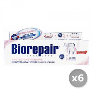 Set 6 BIOREPAIR Dentifricio Protezione Gengive 75 ml Cura e Igiene Dentale