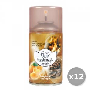 AIR FLOR Set 12 AIR FLOR Ricarica 250 ml Fireplace Therapy Deodorante Casa