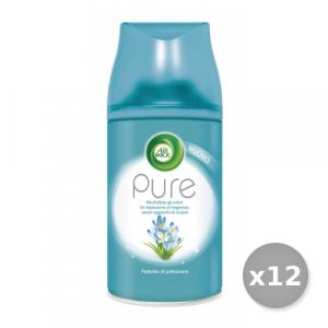 Set 12 AIR WICK Filtrattivo Misto Ricarica 250 ml Pure Profumo Di Primavera