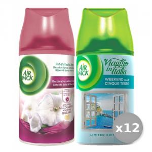 Set 12 AIR WICK Filtrattivo Misto Ricarica 250 ml Seta/fiori di luna Deodorante