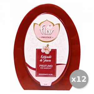 Set 12 AIR FLOR Gerüche aufnehmen Haargel Karkade'Di Java 150 gr Deodorant Lufterfrischer Umwelt