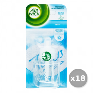 AIR WICK Set 18 AIR WICK Spina Ricarica 19 ml Talco - Deodoranti Casa