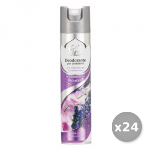 AIR FLOR Set 24 AIR FLOR Spray Lavanda e orchidea 300 ml Deodorante Casa