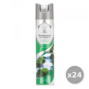 AIR FLOR Set 24 AIR FLOR Spray Muschio Bianco 300 ml Deodorante Casa