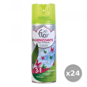 AIR FLOR Set 24 AIR FLOR Spray 3in1 Igienizzante 400 ml Deodorante Casa