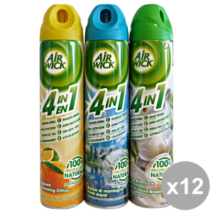 Set 12 AIR WICK Spray Misto 240 ml Deodorante Candele E Profumatori
