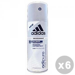 ADIDAS Set 6 ADIDAS Deodorante Spray Adipure 150 ml - Deodoranti Uomo