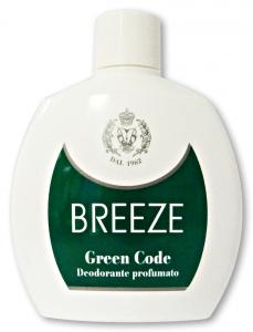 BREEZE Deodorante Squeeze Green Code 100 ml - Deodorante Femminile E Unisex