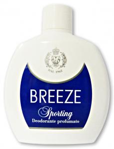 BREEZE Deodorante Squeeze Sporting 100 ml - Deodorante Maschile