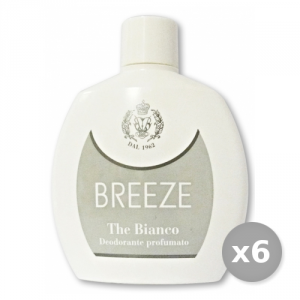 Set 6 BREEZE Deodorante SQUEEZE The Bianco 100 ml Cura del corpo