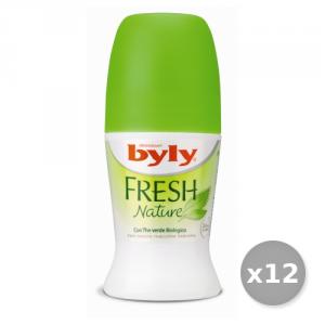 Set 12 BYLY Deodorante Roll-On Fresh Cura del corpo