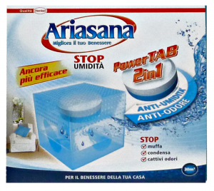 ARIASANA Base Power Tab Mini 2in1 Assorbiumidità - Accessorio Per la Casa