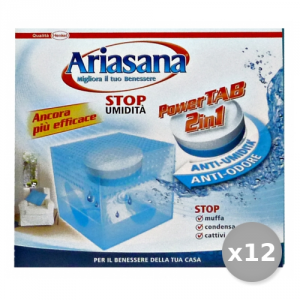 Set 12 ARIASANA Base POWER TAB Mini 2in1 Absorb Humidity Accessories For the House