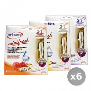 Set 6 ARIASANA 2 Bustine Minifresh 2 in 1 Assorbi Umidit? Accessori per la Casa