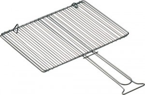 Chrome steel grating Double S.Piedini Cm 28x39 Gardening Barbecues Accessories