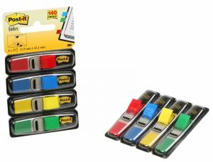 3M Blister mini post-it segna pagina colori assortiti 4 dispenser 35 foglietti