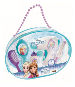 SMOBY Disney Frozen Beauty Bag Hairdryer Electronic With Accessories