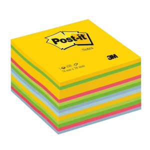 3M 1blocchetto da 450 Sheets Post-it a colori Assorted 76 X 76mm