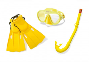 INTEX Set Mask , Mouthpiece And Pinne Accessory Diver