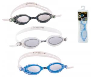 BEST WAY Occhialini hydropro competition adulto silicone protezione uv assortito