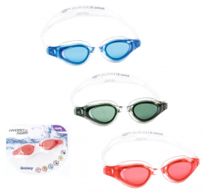 BEST WAY Occhialini wave 3 colori assortiti in silicone con lenti protezione uv