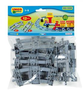 ANDRONI Busta binari unico trenino 12 pezzi color antracite gioco da costruzioni