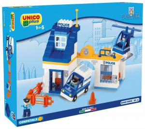 ANDRONI Scatola costruzioni unico 80 pezzi polizia gioco per bambini