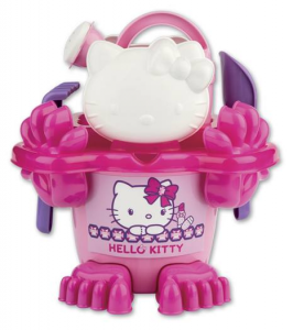 ANDRONI Set Sea With Formines , Pallet , Rake And Watering can Hello Kitty