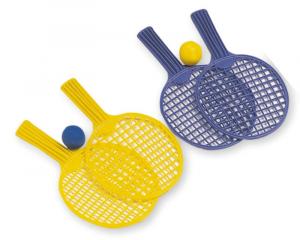 ADRIATIC Mini baby tennis racchette con palla 2 colori assortiti 27cm