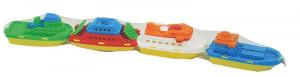 ADRIATIC Set 4 mini barchette colorate gioco da bambino